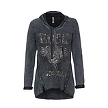 Sweatshirt mit Rock-Motiv, magnet stone washed