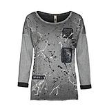 Langarmshirt mit Glitzer-Front, magnet