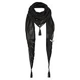 Schal mit Ausbrenner-Samt, schwarz