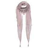 Tüll-Schal mit Ziersteinen, rosenholz