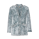 Sweatjacke mit Glitzersteinen, stone washed blue fog