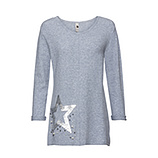 Pullover mit Pailletten, hellblau