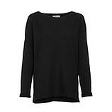 Pullover mit Off-Shoulder, schwarz