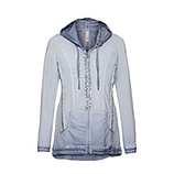 Sweatjacke mit 3D-Optik, moonlight