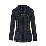 Sweatjacke mit Pailletten, night stone washed