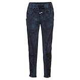 Sweat-Pant mit Pailletten, night stone washed