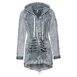 Sweatmantel aus Baumwolle mit Pailletten, bluefog stone washed