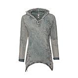 Kapuzensweatshirt mit Ziersteinen, schilf stone washed