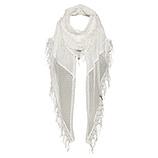 Schal mit floraler Spitze, offwhite