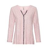 Basic Shirt mit Pailletten, rosenholz stone washed