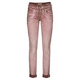 Hose mit metallic Print, rosé