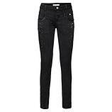 Jeans mit Glitzersteinen 80cm, schwarz