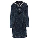 Sweat-Kleid mit Glitzer-Details, night