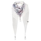 Schal mit Print-Design, offwhite