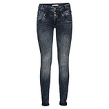Sweat-Jeans mit Glitzersteinen 80cm, denim