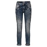 Jeans mit Floral-Patch 80cm, denim