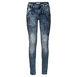 Lässige Jeans mit Ziersteinen, denim