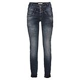 Jeans mit Glitzer-Schrift 80cm, denim