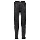 Jeans mit Schmucksteinen, schwarz
