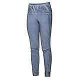 Bengalin mit Pailletten 72cm, jeansblau