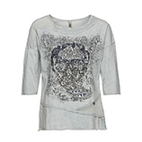 Shirt mit Totenkopf-Print, marshmallow