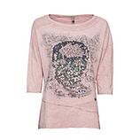 Shirt mit Totenkopf-Print, rosenholz