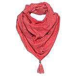 Loop-Schal mit Strick-Netz und Steinchen, blutorange