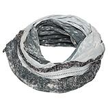 Loop-Schal mit Paillettenband, grau stonewashed
