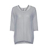 Basic Shirt mit Ziersteinen, platin