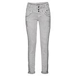 Sweat-Jeans mit Nieten 80cm, hellgrau