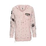 Sweatshirt mit Pailletten, rosenholz