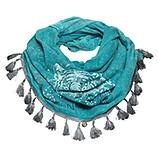 Loop-Schal mit Tiger-Motiv, lagune stonewashed