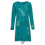 Kleid mit Patches und Steinen, lagune stonewashed