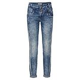 Sweat-Jeans mit Glitzersteinen 80cm, denim
