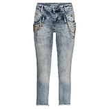 Cropped-Jeans mit Schmuck-Elementen 64cm, denim