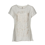 Gestreiftes Shirt mit Frontdesign, offwhite
