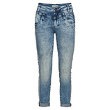 Sweat-Jeans mit Glitzer-Elementen 72cm, light blue