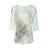 Transparentes Shirt 3/4 Arm, limone