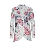 Blazer mit Floral-Print, rosenholz