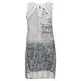 Kleid mit Zier-Elementen, grau