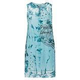 Kleid mit Zier-Elementen, cyan