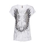 Shirt mit Flügel-Design, weiß
