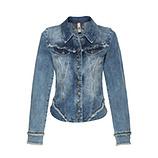 Jeansjacke mit Ziersteinen, denim