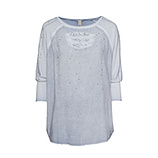 Basic Shirt mit Schmucksteinen, moonlight