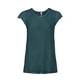 Basic Shirt mit Ziersteinen, zeder