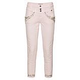 Sweat-Jeans mit Perlen 64cm, mandelblüte