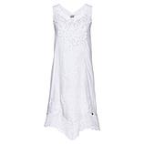 Leinen-Kleid mit Spitze, weiß