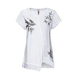 Shirt mit Schmuck-Design, weiß