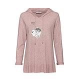 Kapuzen-Pullover mit Pailletten-Herz, rosenholz-melange