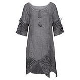 Leinen-Kleid mit Spitze und Netz, eiffelturm